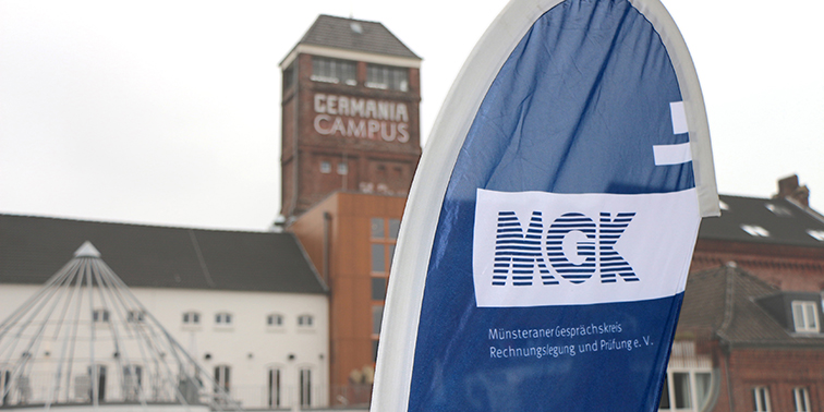 Flagge am Germania Campus